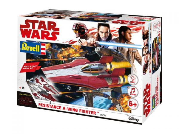 Revell Star Wars - Build & Play A-Wing Fighter, Red