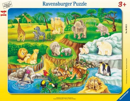 Ravensburger® Puzzle - Zoobesuch, 14 Teile