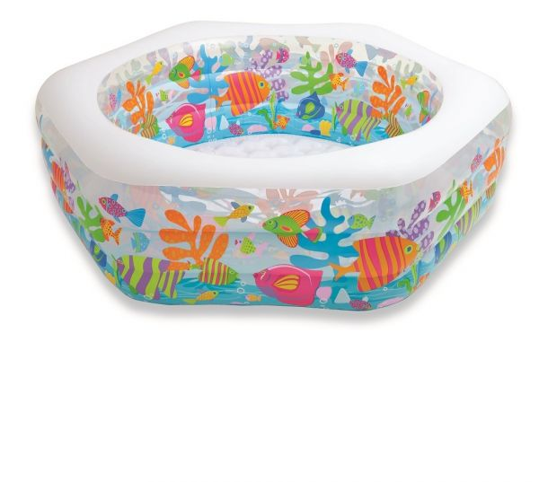"INTEX - Kinderpool ""Aquarium"", 6 eckig"