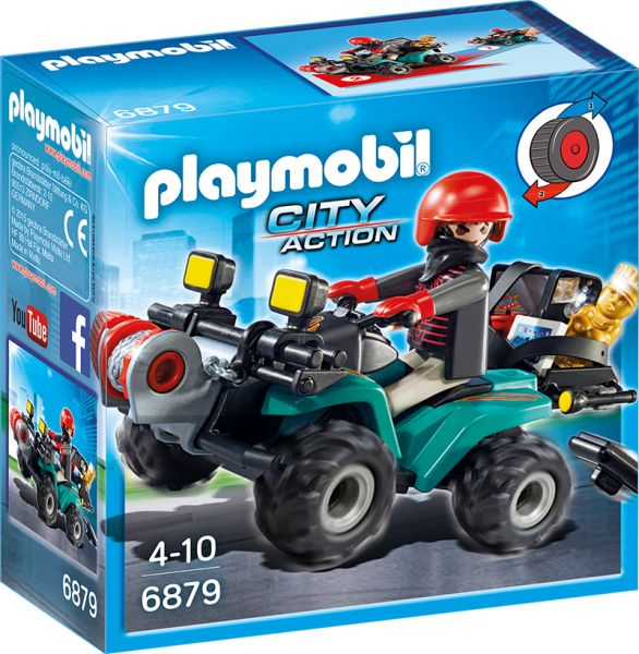 PLAYMOBIL® City Action - Ganoven Quad mit Seilwinde