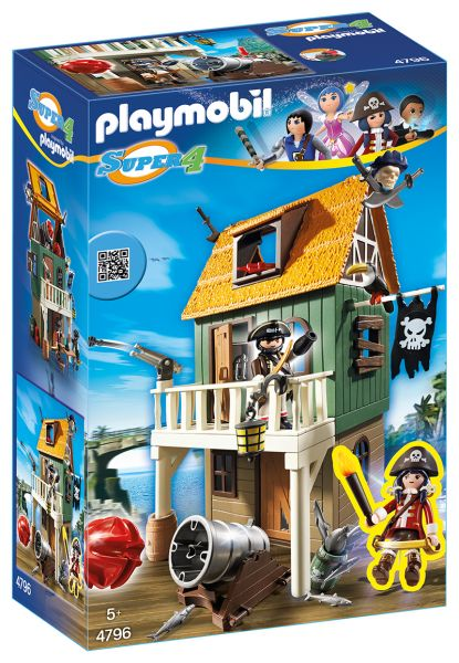 PLAYMOBIL® Super 4 - Getarnte Piratenfestung mit Ruby
