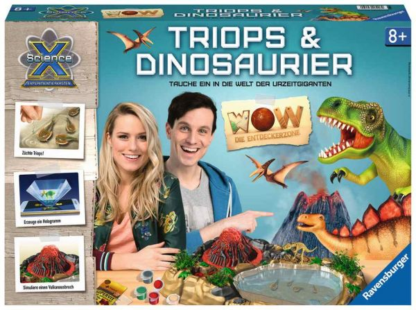 Ravensburger® Spiele - ScienceX WOW Triops & Dinosaurier
