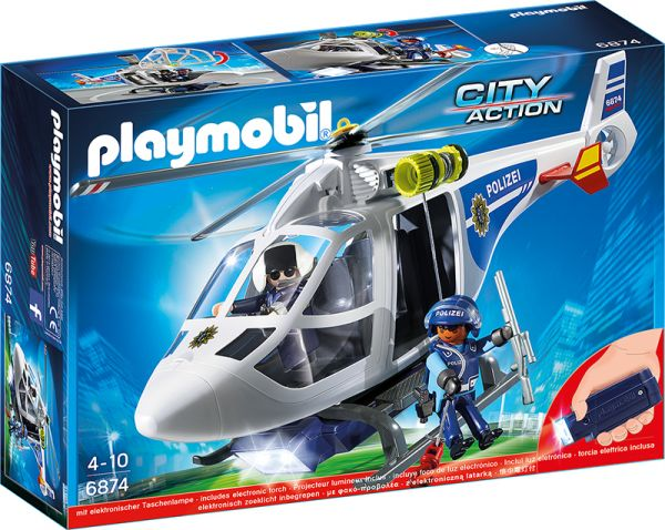 PLAYMOBIL® City Action - Polizei Helikopter mit LED
