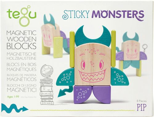 Tegu - Magnetisches Holzset Pip, 8 Teile