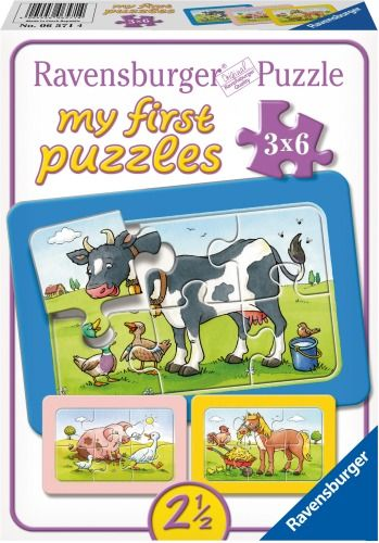 Ravensburger® my first Puzzle - Gute Tierfreunde, 3x6 Teile