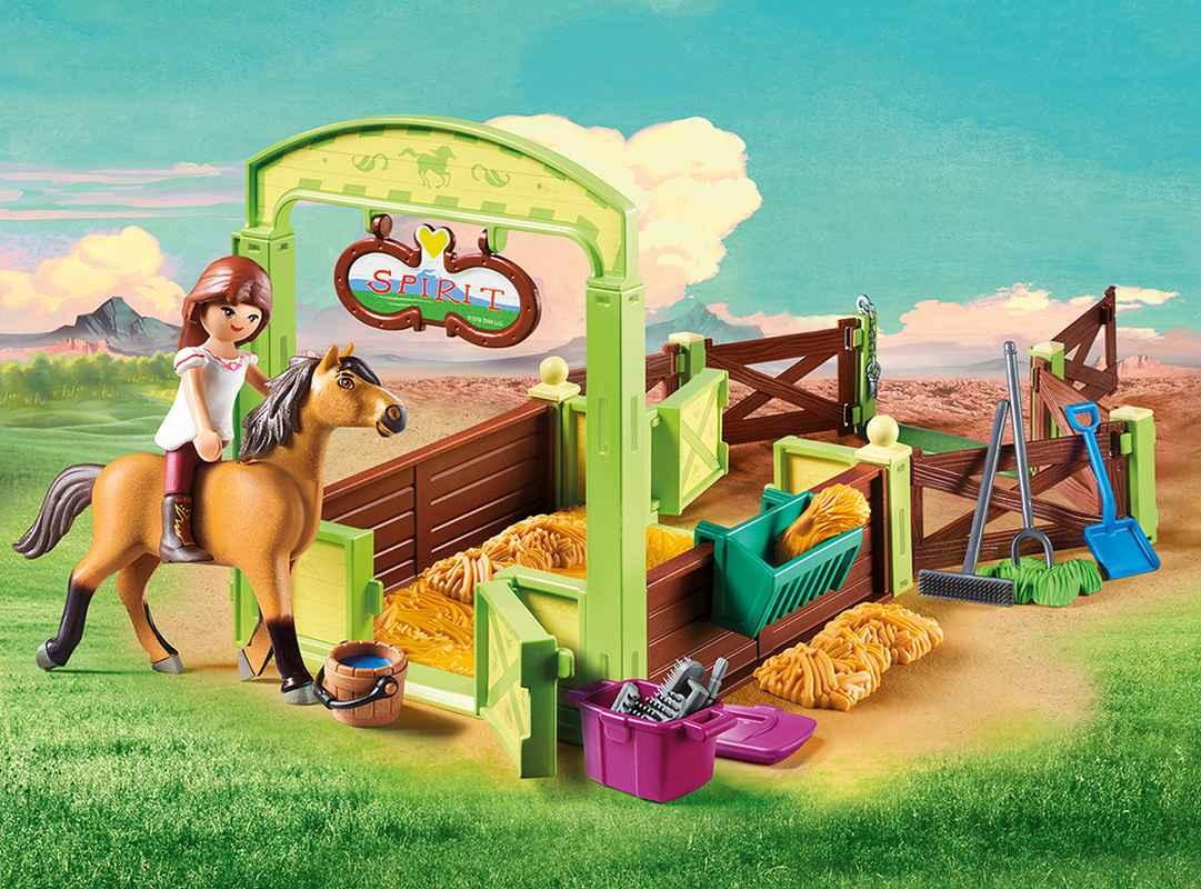 playmobil® spirit riding free  pferdebox lucky und spirit
