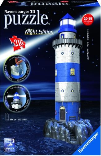 Ravensburger® 3D Puzzle - Leuchtturm Night Edition