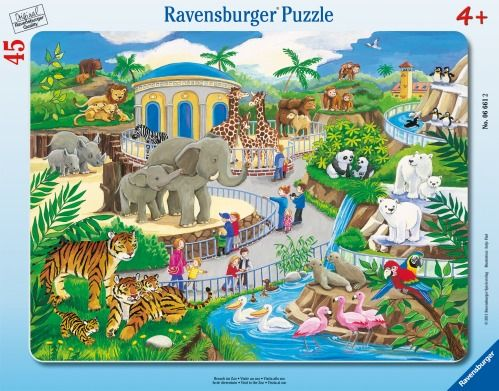 Ravensburger® Puzzle - Besuch im Zoo 45T.
