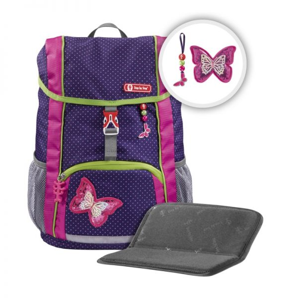 """Step by Step KID - Rucksack-Set """"Shiny Butterfly"""", 3 teilig"""
