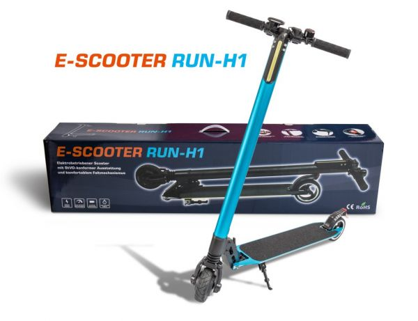 Elektro Scooter Run H1, blau