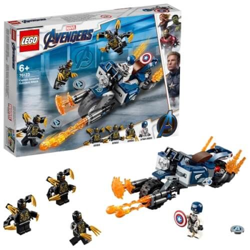 LEGO® Marvel Super Heroes - Captain America: Outrider- Attacke
